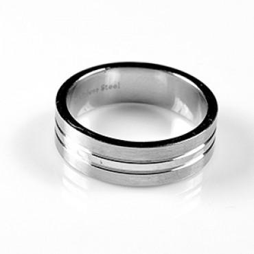 Prsten z chirurgické oceli Matt - US 6/ US 7,5