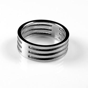 Prsten z chirurgické oceli Line2 - US 6,5/ US 7,5/ US 9