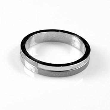 Prsten z chirurgické oceli Simple - US 6/ US 6,5