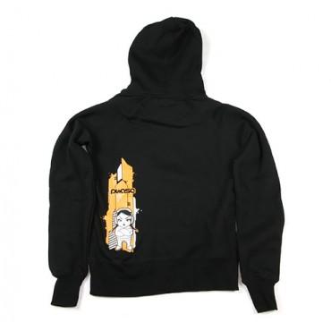 Dámská mikina s kapucí - S / Orange Print