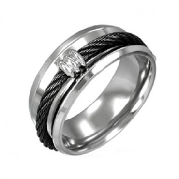 Prsten z chirurgické oceli Dsng - US 7,5/ US 11,5