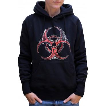 Dámská mikina s kapucí - S / Biohazard Black