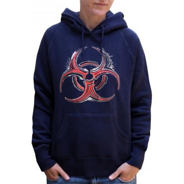Dámská mikina s kapucí - S,M / Biohazard Navy