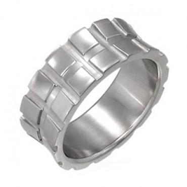 Prsten z chirurgické oceli Square - US 12