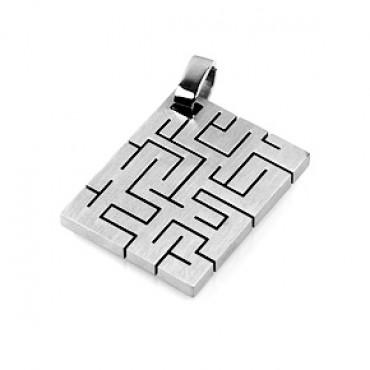 Přívěsek z chirurgické oceli / Labyrinth
