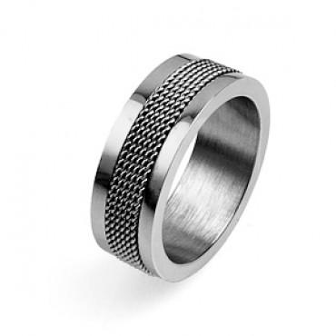 Prsten z chirurgické oceli Center - US 7 US /11