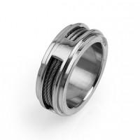 Prsten z chirurgické oceli Cable  - US 7/ US 12/ US 13