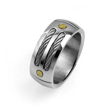 Prsten z chirurgické oceli Modern - US 9