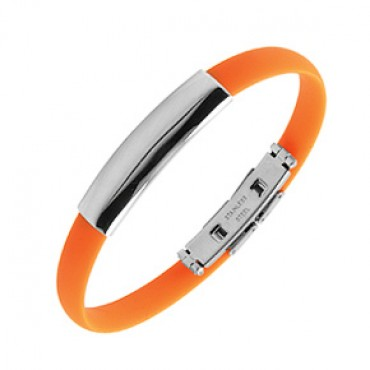 Náramek na ruku z chirurgické oceli / Orange