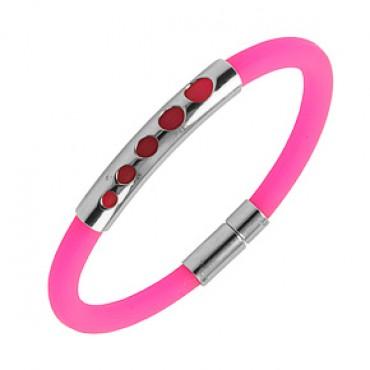 Náramek na ruku z chirurgické oceli / Pink