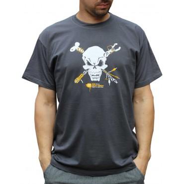 Tekno tričko pánské Skull - M,L,XL,XXL