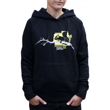Dámská mikina s kapucí  - XS,S / Squirrel Black